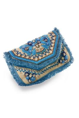 Shell Embellished Clutch