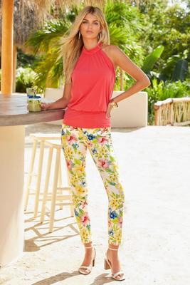 Printed Floral Ankle Jean