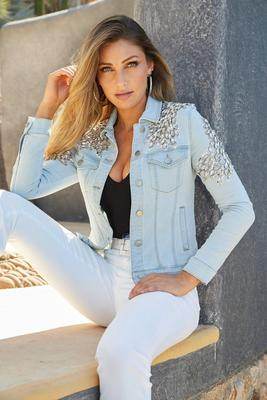 Jewel And Sequin Embellished Denim Jacket