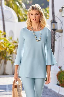 Beyond Travel Flare-Sleeve Top