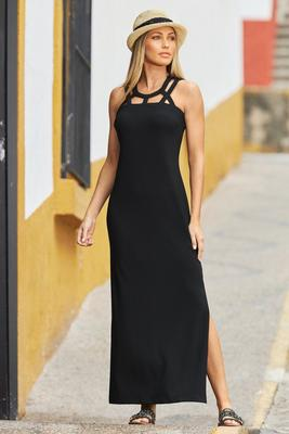 Display product reviews for Beyond Travel Cutout Maxi Dress