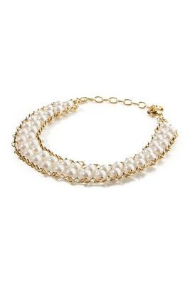Pearl And Chain Choker