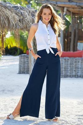 Linen Side-Slit Pant