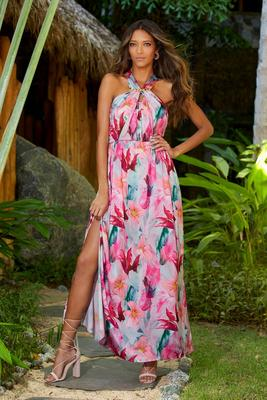 Display product reviews for Charm Chain Detail Floral Maxi Dress