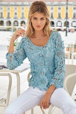 3D Floral Lace Jacket