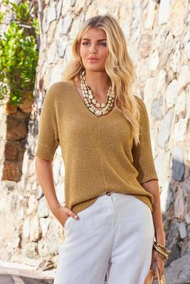 Metallic Slouchy Sweater