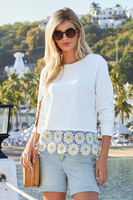 Daisy Lace Sweatshirt