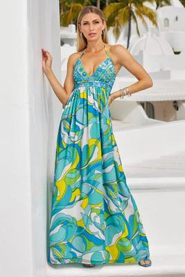 Capri Waters Embellished Maxi Dress