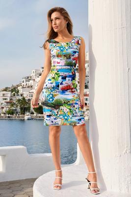 Display product reviews for Greek Getaway Off-The-Shoulder Sheath Dress