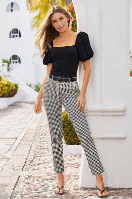 Gingham Ankle Pant