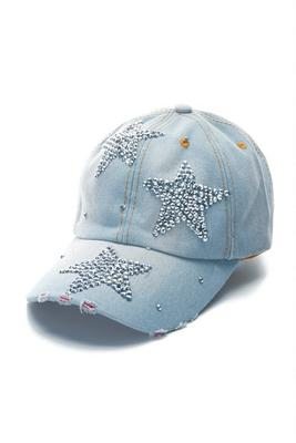 Embellished Star Baseball Hat