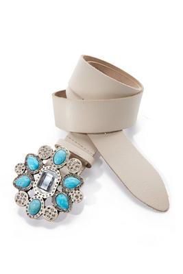 Turquoise Stone Buckle Belt