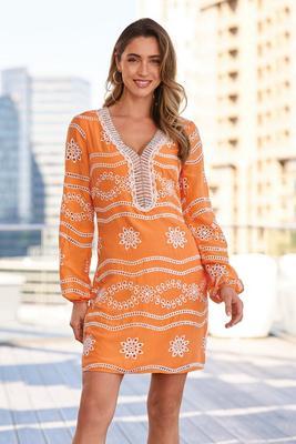 Embellished Lace Tunic Dress