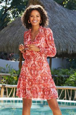 Display product reviews for Boho Smocked Printed Dress