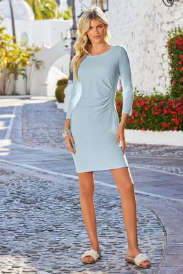 Beyond Travel Side-Ruched Dress