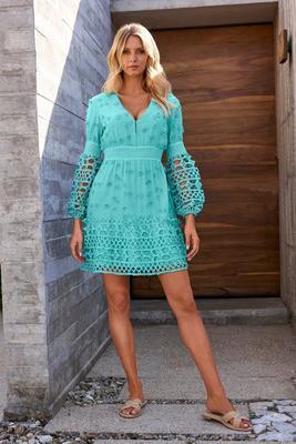 Mixed Media Short Dress