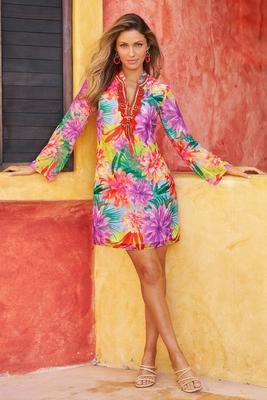 Tropical Neon-Pop Dress