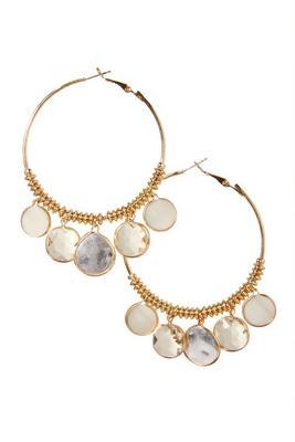 Multi Embellished Hoop Earring