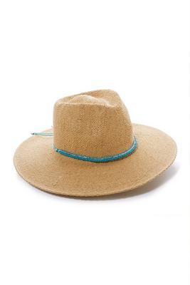 Turquoise-Beaded Hat