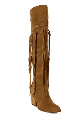 Fringe Suede Over-The-Knee Boot