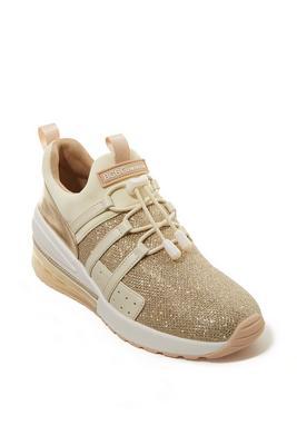 Glitter Slip-On Wedge Sneaker