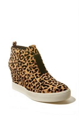 Leopard Slip-On Wedge Sneaker
