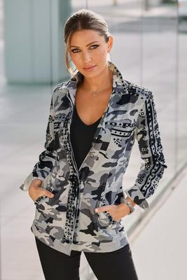 Display product reviews for Camo Print Embroidered Utility Jacket