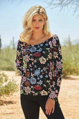 Colorful Floral Lace Top