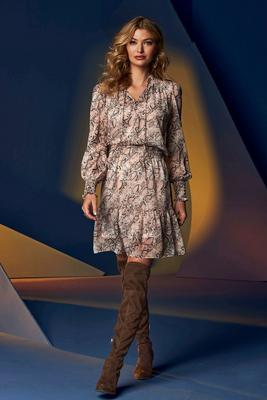 Python Print Smocked Peasant Dress