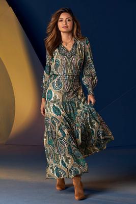 Paisley Boho Maxi Dress