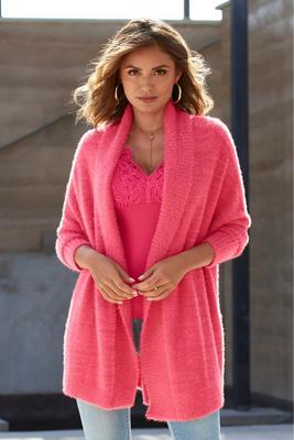 Display product reviews for Plush Relaxed Cardigan