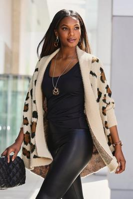 Leopard Relaxed Cardigan