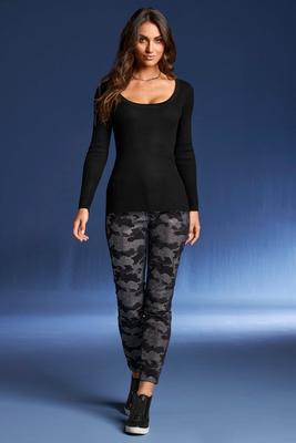 Crystal Embellished Camo Ankle Jean