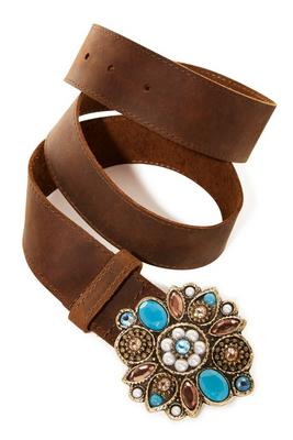 Multi Embellished Buckle Belt