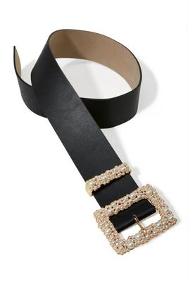 Mixed Pearl Buckle Belt