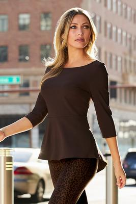 Display product reviews for Beyond Travel Ballet Neck High-Low Top