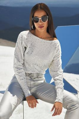 Foil Animal Slouchy Sweater