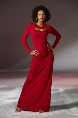 Cutout Sequin Maxi Dress