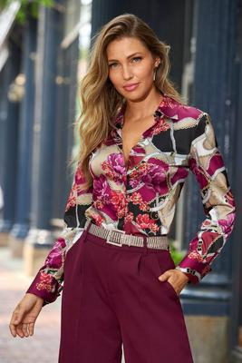 Floral Moment Sophia Button-Up Charm Blouse