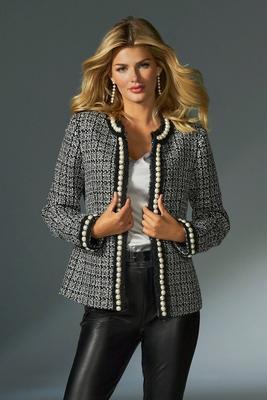 Pearl Shimmer Tweed Parisian Jacket