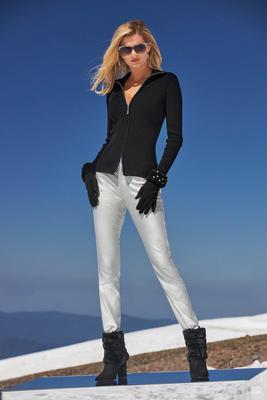 Metallic Coated Ankle Jean