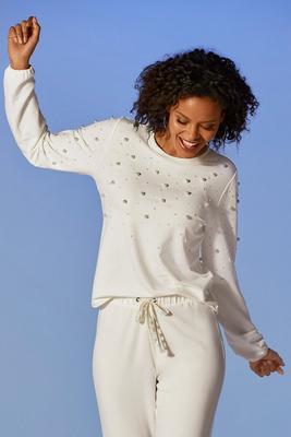 French Terry Pearl Sweatshirt