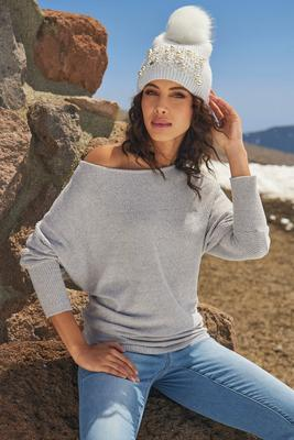 So Soft Slouchy Wide-Neck Top
