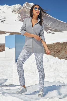 Metallic Snow Leopard Ankle Jean