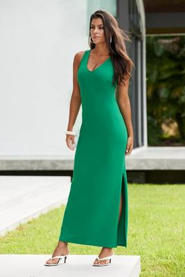 Beyond Travel™ V-Neck Maxi Dress Plus Size